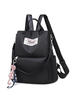 Easy Matching Capacity Black Backpacks