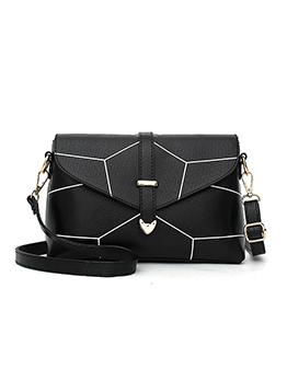 Korean Geometric Design Shoulder Bag