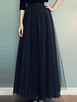 Easy Matching Large Hem Maxi Tulle Skirt