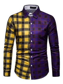Fashionable Check Contrasting Colors Matching Shirts