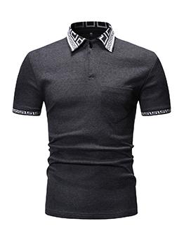 Printed Turndown Collar Polo Shirts