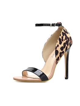 Spring Leopard Printed Ankle Straps Sandals
