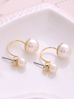 Elegant Faux Pearls Earring For Women