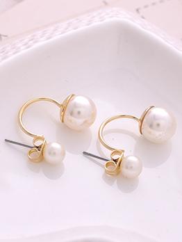Elegant Faux Pearls Earring For Women