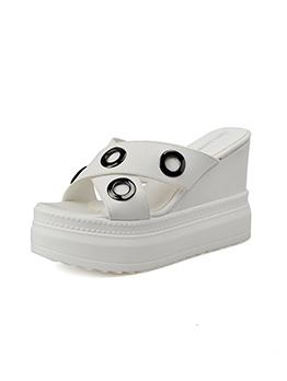 Easy Matching Slip On Platform Wedges Slippers