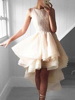 Asymmetrical Fluffy Womens Sleeveless Dresses