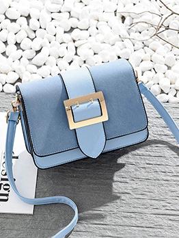 Sweet Style Wide Leg Belt Patchwork Flap Bag