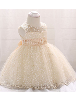 Embroidery Beading Girls Party Dresses