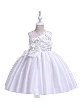 Stereo Flower Wedding Dresses For Girls