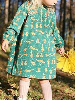 Dots Animal Print Doll Collar Dresses