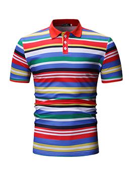 Fashionable Contrasting Colors Matching Polo Shirts