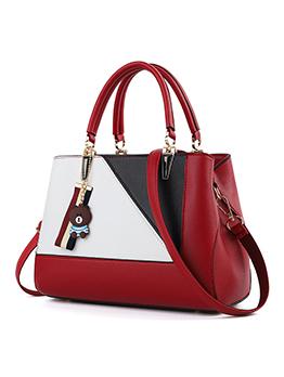 Large Capacity Colorblock Handbag For Women
