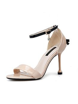 Korean Design Pu Ankle Strap Sandals