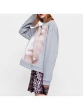 Euro Printed Thicken Loose Sweatshirt For Woman