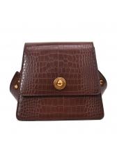 Vintage Stone Grain Hasp Trapezoidal Bag