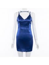 Deep V Neck Sleeveless Bodycon Dress