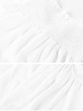 Sexy Backless Tie-wrap White Dress