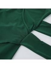 Tie-Wrap Irregular Deep V Neck Sleeveless Dress