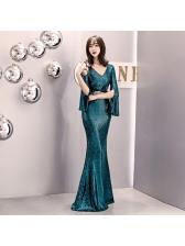 Boutique Sequined Floor Length Evening Dresses