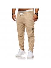 Casual Drawstring Mens Long Pants