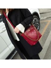 Fashion Striped Side Chevron Chain Bucket Bag