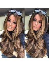 Center Parting Wave Long Colormix Cheap Wigs For Sale