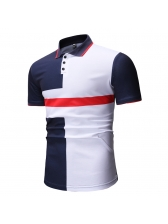 Euro Contrast Color Fitted Polo Shirt For Men