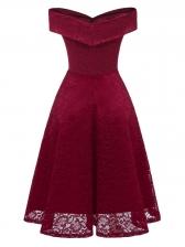 Ladies Off Shoulder Lace Dress