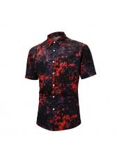 Creative Colour-Impact Printing Short Sleeve Shirt