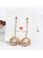 Korean Round Zircon Earring For Women