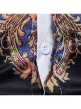 Digital Printed Turndown Collar Mens Shirts