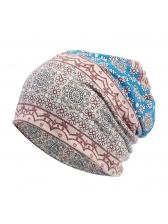 Bohemian Style Printed Beanie Cap For Women