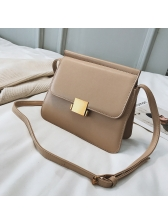 Vintage Style Solid Pu Matching Women Shoulder Bags