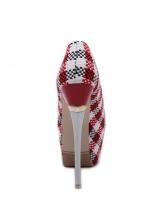 Spring Houndstooth Platform Stiletto Heels