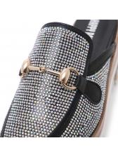 Fashionable Diamond Pointed Platform Slippers