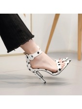 Spring Polka Dots Pu Ankle Strap Sandals