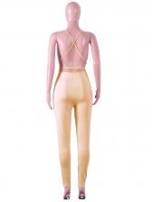 Deep V Neck Backless Sequin Jumpsuit For Women