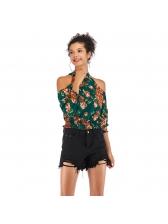 Floral Cold Shoulder Blouse Design