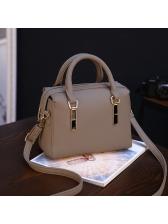 Casual Metal Decor Square Handbag