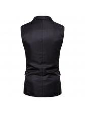 Business Lapel Collar Solid Waistcoat For Men