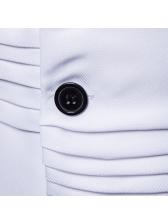V Neck Single-Breasted Draped Waistcoat