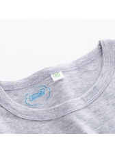 Casual Letter Crew Neck Baby Sets