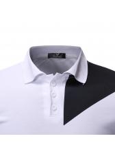 Fashionable Contrasting Colors Mens Polo Shirts
