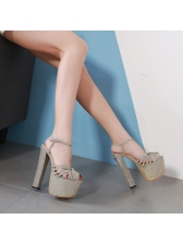 Spring Hollow Out Platform Pumps