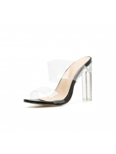 New Arrival PVC Clear Heel Slippers