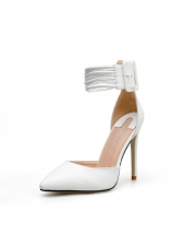 Simple Design Ankle Strap Woman Pumps