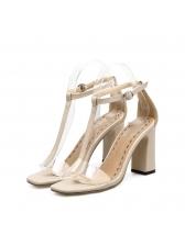 Korean Design T-Strap Ankle Strap Sandals