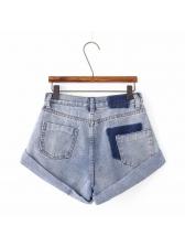 Simple Design Pockets Denim Hot Shorts