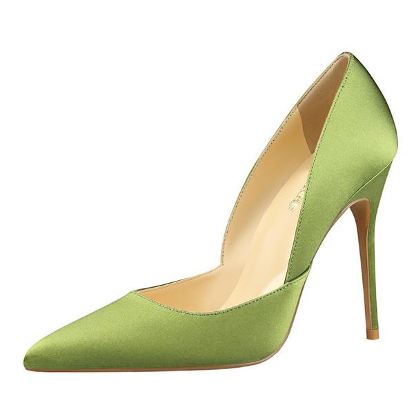Minimalist Slip On Thin Heel Lady Pumps