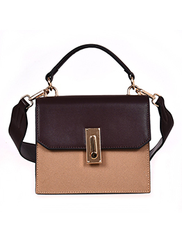 Easy Matching Contrast Color Square Crossbody Bag